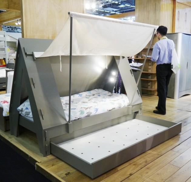 Mezzaline chambre enfant tente - Tente pour lit sureleve ...
